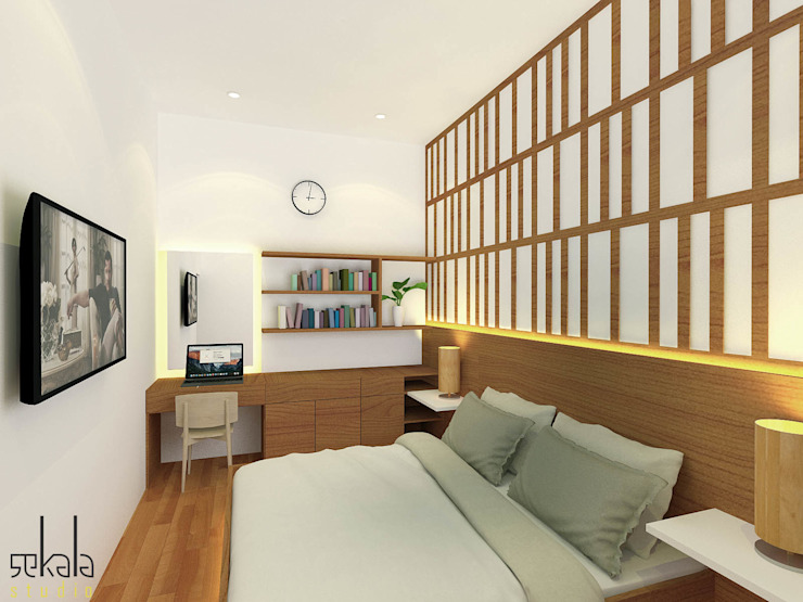 SEKALA Studio Modern style bedroom Wood Wood effect