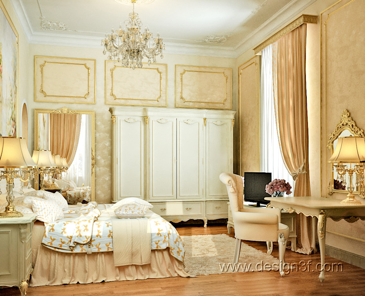 Dormitorios de estilo clásico de студия Design3F Clásico
