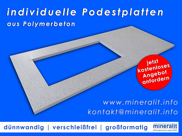 de Mineralit - Mineralgusswerk Laage GmbH Moderno Cuarzo