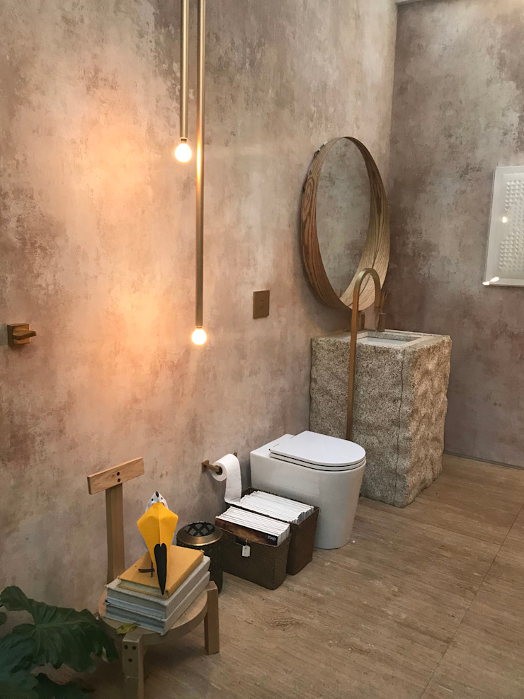 Eclectic style bathroom by Luísa Nascimento - Homify Eclectic