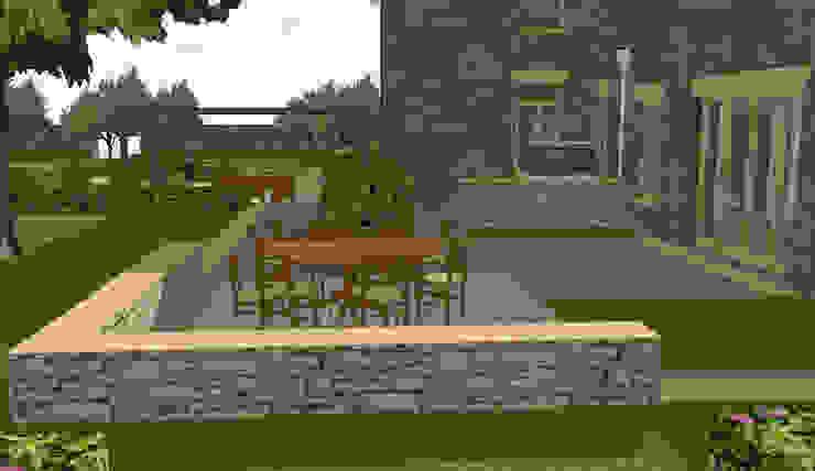 Hertfordshire Country Estate Garden (Braughing) Aralia Klasik Taş