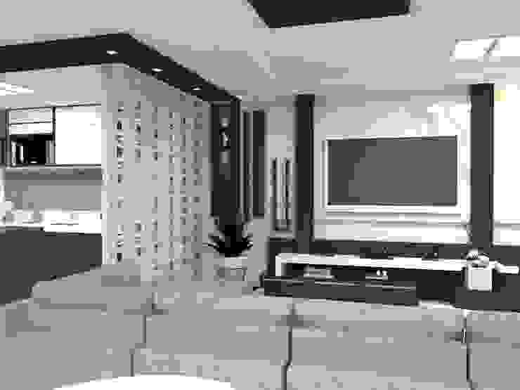 Laene Carvalho Arquitetura e Interiores Modern living room