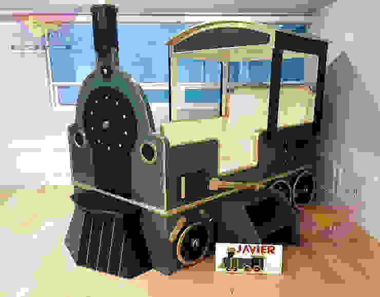 Clásico y precioso tren de Kids Wolrd- Recamaras Literas y Muebles para niños Clásico Derivados de madera Transparente