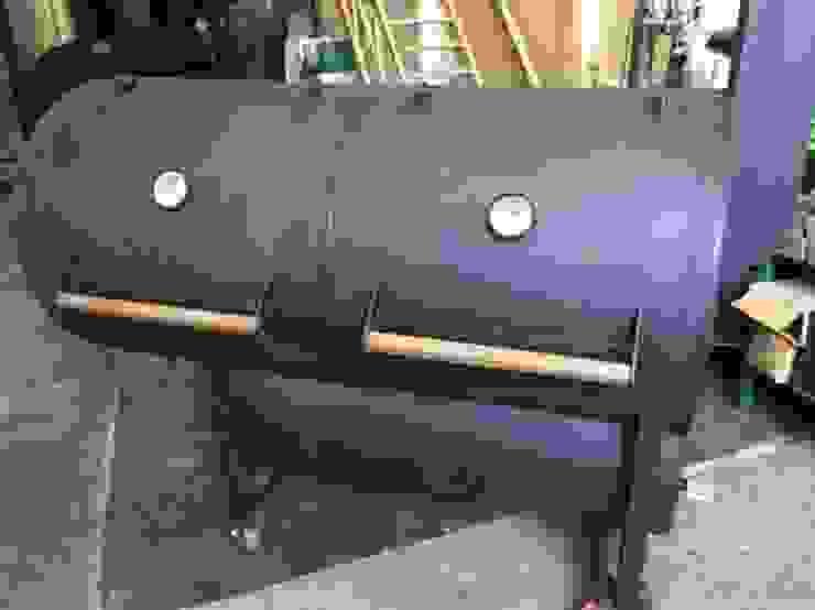 Asador de carne a leña Austin de Smoke King Ahumadoras Rústico Hierro/Acero