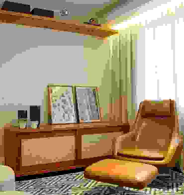 Salones de estilo moderno de MARIA FERNANDA PEREIRA Moderno Madera Acabado en madera
