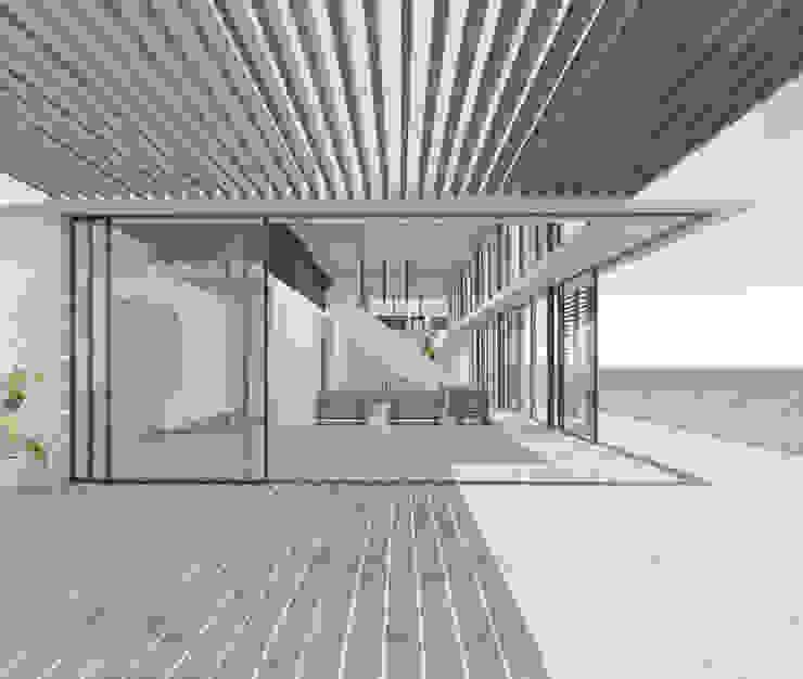 Terraza patio hacia el interior Livings de estilo mediterráneo de homify Mediterráneo