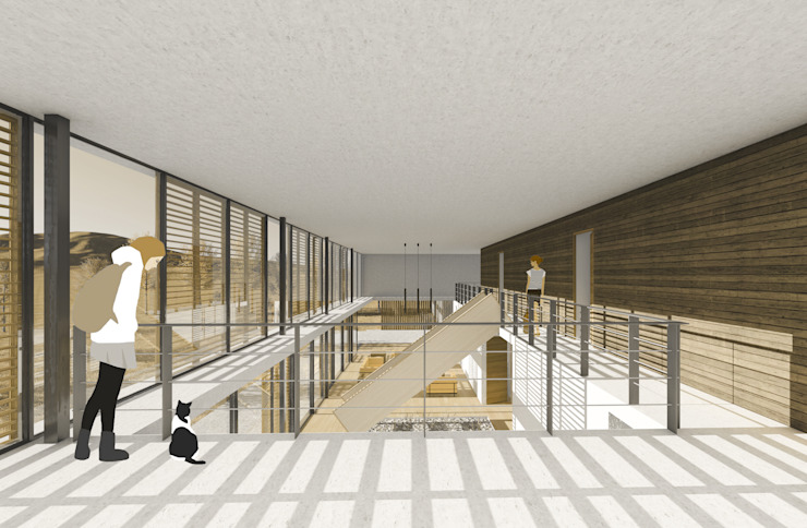 Imagen interior desde el segundo nivel Livings de estilo mediterráneo de homify Mediterráneo