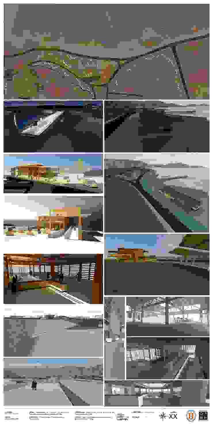 Parque sustentable de borde costero en Taltal Casas de estilo industrial de Arqui Bim Integra Industrial Madera Acabado en madera
