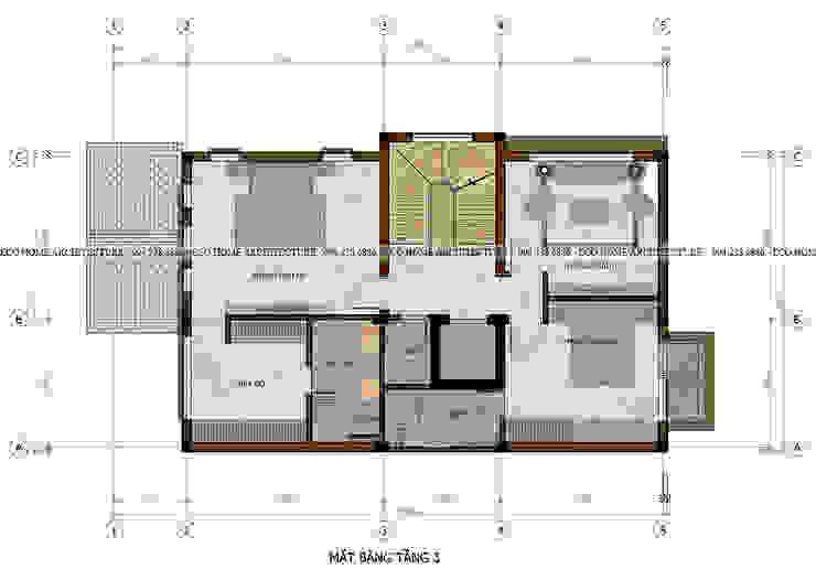 Biệt thự liền kề mái thái bởi Công ty CP kiến trúc và xây dựng Eco Home