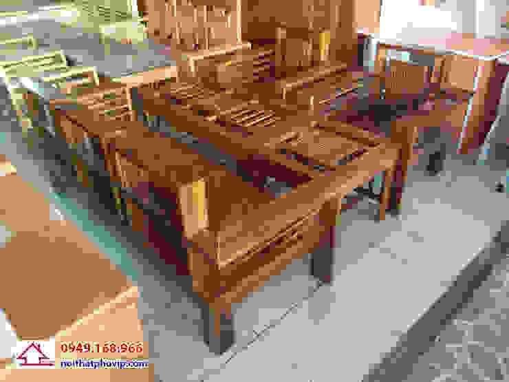 Mẫu SLM742: hiện đại  by Đồ gỗ nội thất Phố Vip, Hiện đại