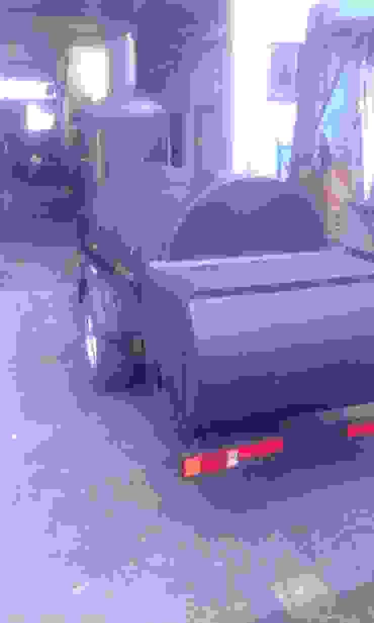 Asador de carne a leña Boss Hogg de Smoke King Ahumadoras Rústico Concreto