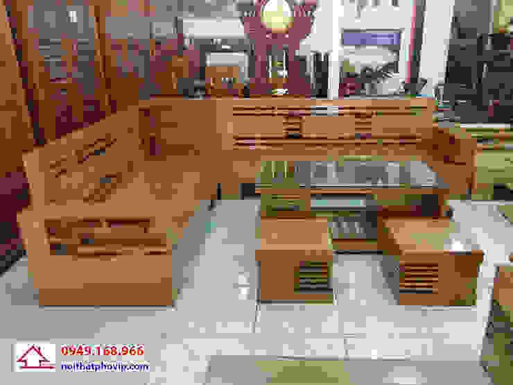 Mẫu SLB416: hiện đại  by Đồ gỗ nội thất Phố Vip, Hiện đại