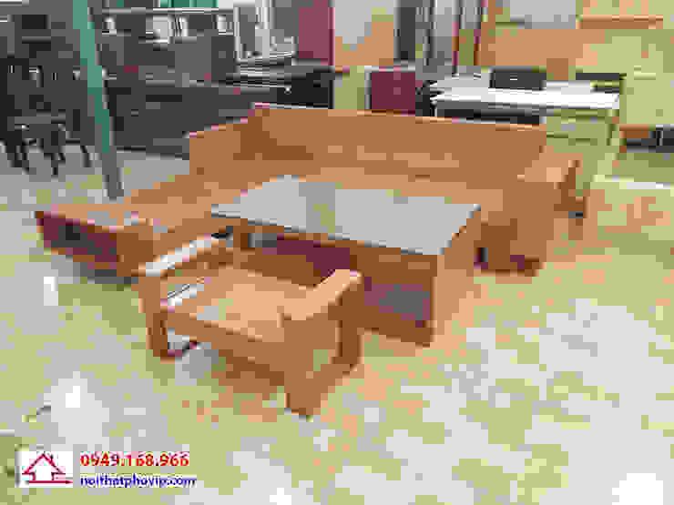 Mẫu SLS741: hiện đại  by Đồ gỗ nội thất Phố Vip, Hiện đại