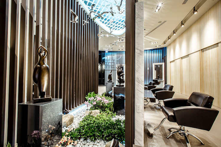 全方位髮藝旗艦店All Aspect Hair Design: 不拘一格  by 沐築空間設計, 隨意取材風