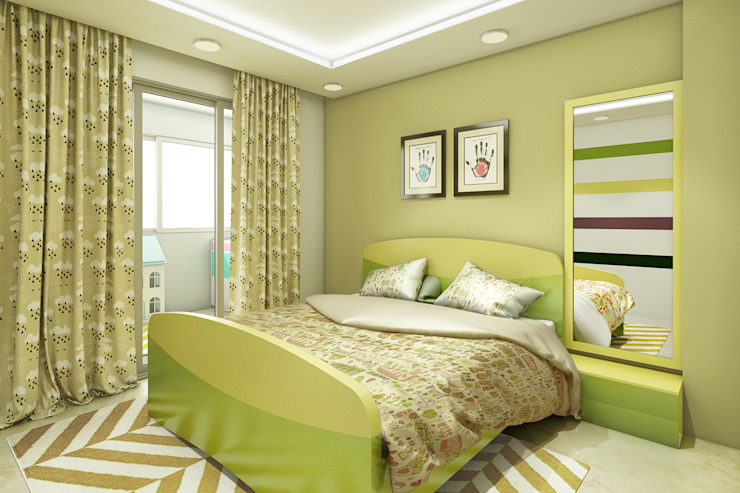 Residence Interiors Asian style bedroom by Spaces Alive Asian