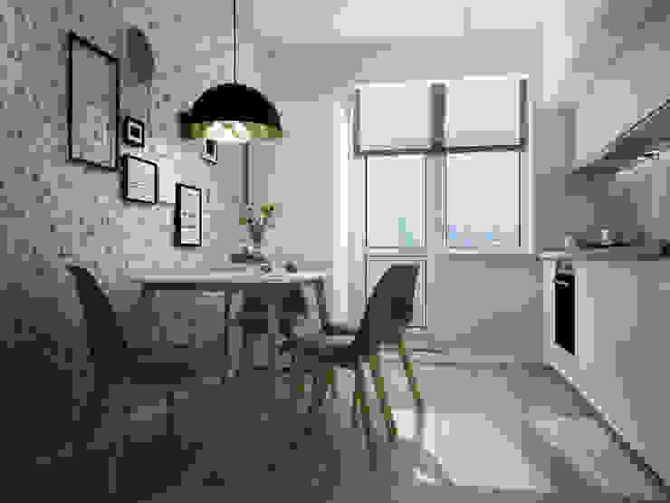 квартира в современно-скандинавском стиле Айрис Эстет Кухня в скандинавском стиле