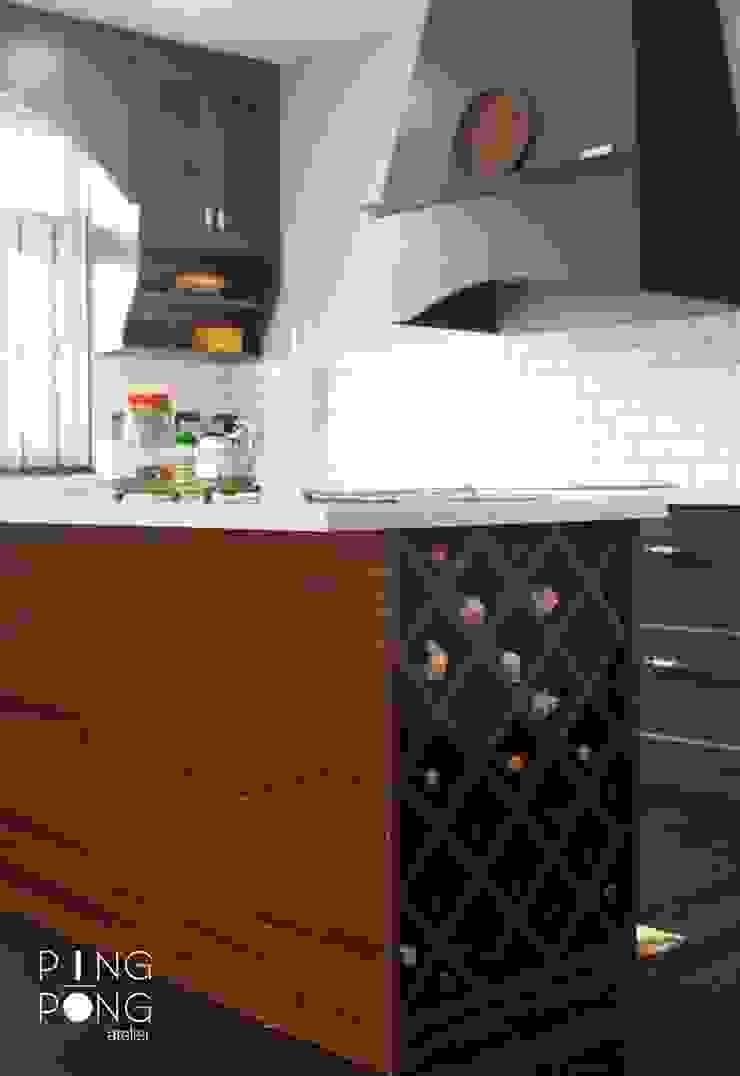 Thiết kế & thi công Bếp bởi PingPong Atelier Furniture Hiện đại Đồng / Đồng / Đồng thau