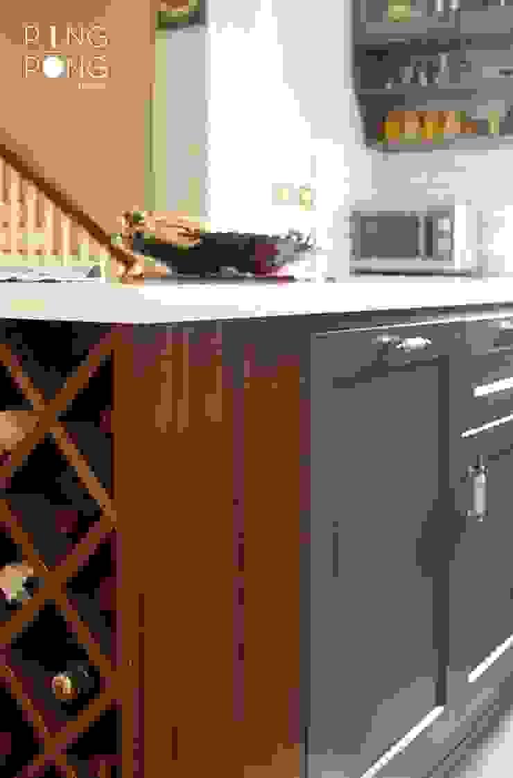 Thiết kế & thi công Bếp bởi PingPong Atelier Furniture Tối giản