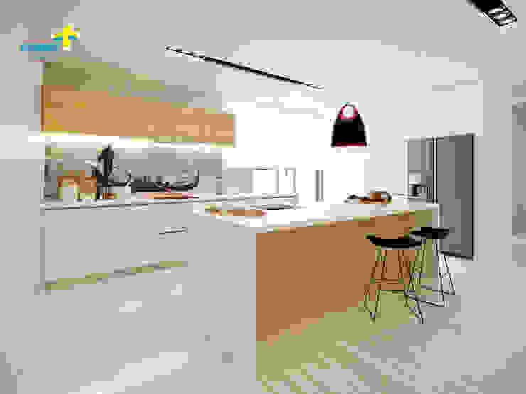 3D Cozinha homify Cozinhas modernas
