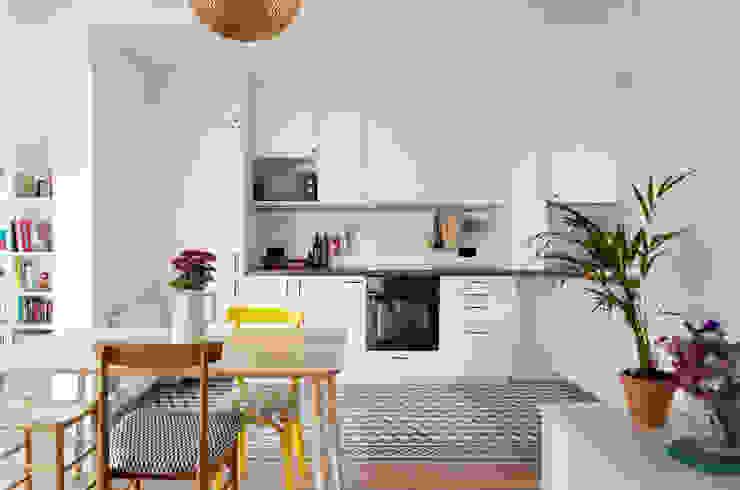 Atico - Barcelona Guinardo Cocinas de estilo escandinavo de CLAAAC interiorismo y diseño Escandinavo