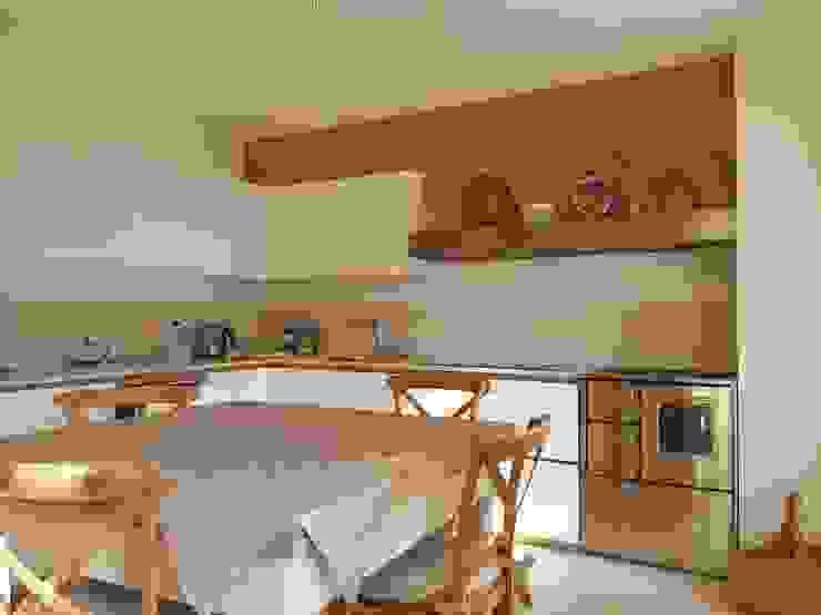 Cucina Moderna Rovere E Laccato Bianco Homify