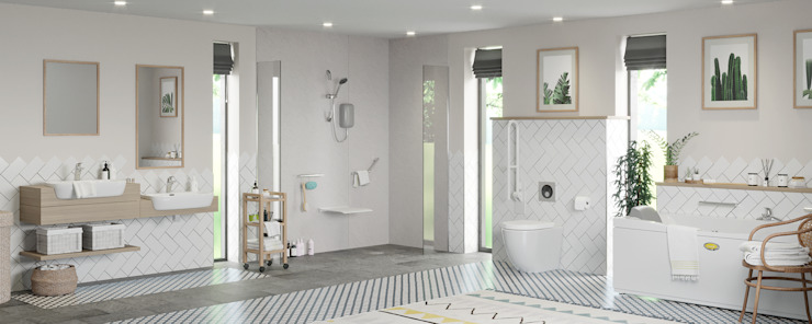 Independent Living - Bathroom ideas Modern Bathroom by Victoria Plum Modern