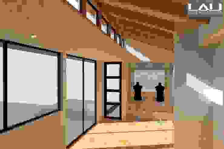 Taller Orfebre Pasillos, vestíbulos y escaleras modernos de Lau Arquitectos Moderno