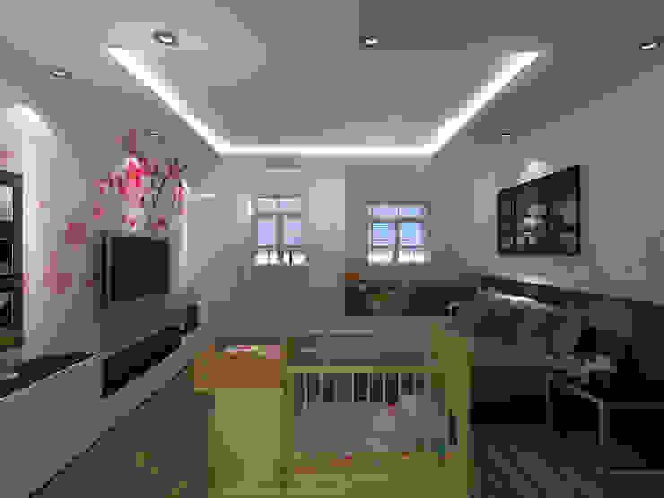 Phòng ngủ vợ chồng: công nghiệp  by Công ty TNHH MTV Xây Dựng Khang Điền, Công nghiệp