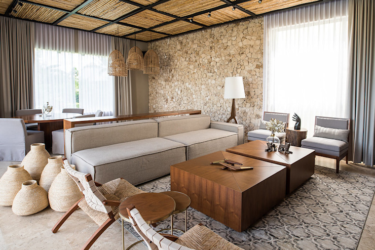 Living room by Chehade Carter Diseño Interior ,