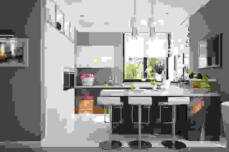 Кухня современный стиль студия Design3F Кухня в стиле минимализм