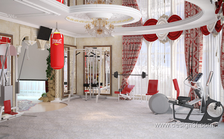 Asian style gym by студия Design3F Asian