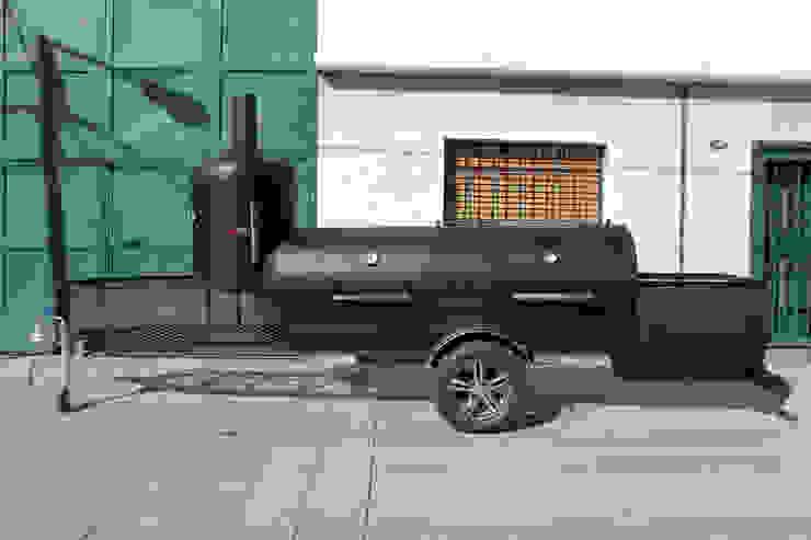 Ahumador a leña Jaguar de Smoke Kit BBQ Rústico Hierro/Acero