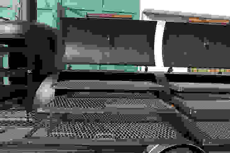 Asadora de carne Jaguar de Smoke Kit BBQ Rústico Hierro/Acero