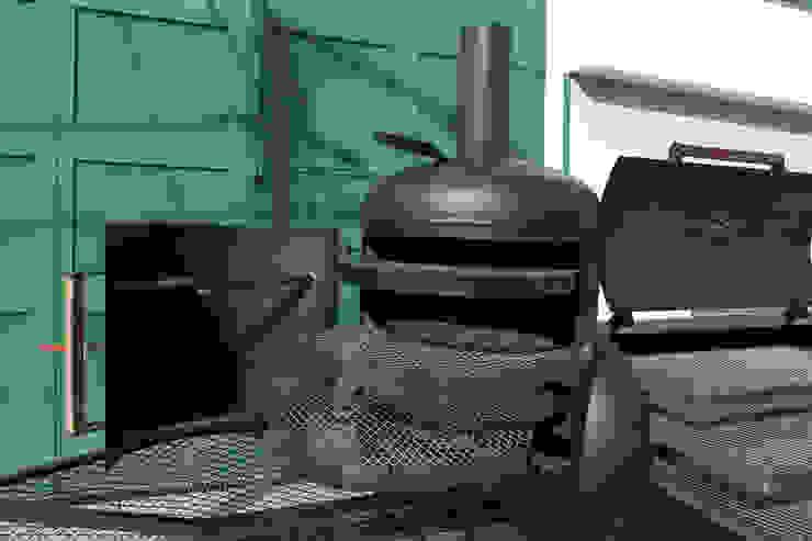 Asadora a leña Jaguar de Smoke Kit BBQ Rústico Hierro/Acero