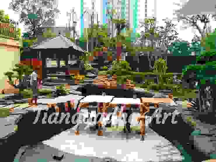 Proses Pembuatan Kolam Ikan Koi versi Tianggadha-Art Oleh Tukang Taman Surabaya - Tianggadha-art Tropis Batu