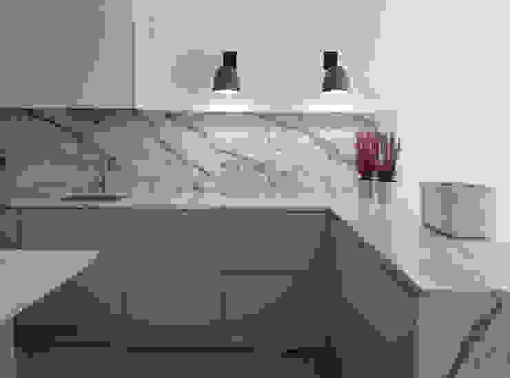 Apartamento Avenidas Novas CF Arquitectura e Design Cozinhas minimalistas Pedra Verde