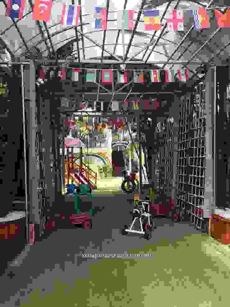 Thi công ngoại thất Trường Mầm non Shining Star bởi Công ty TNHH Xây dựng và Phát triển Ngôi Nhà Xanh Hiện đại