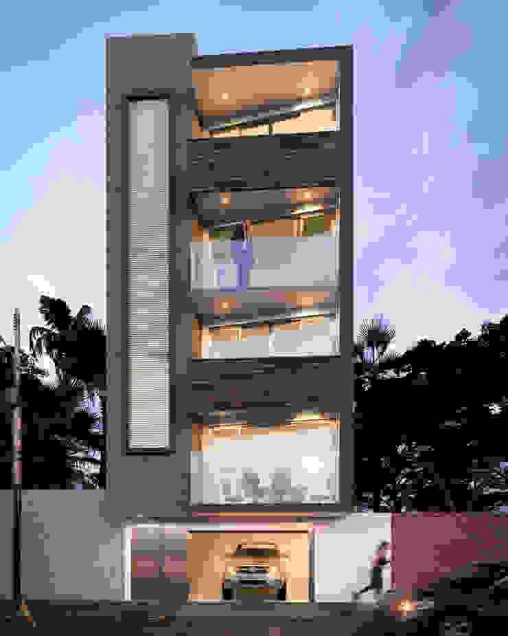 OFICINAS GM CONSTRUCCIONES Casas modernas de AP Arquitectura Moderno Concreto reforzado