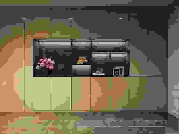 Thiết kế nội thất hiện đại tinh tế ở căn hộ Vinhomes Central Park bởi ICON INTERIOR Hiện đại