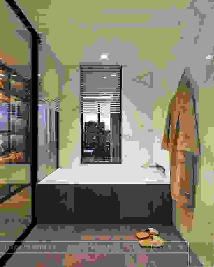 Thiết kế nội thất hiện đại tinh tế ở căn hộ Vinhomes Central Park Phòng tắm phong cách hiện đại bởi ICON INTERIOR Hiện đại
