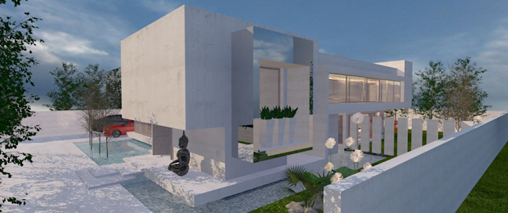 Casa la Dehesa de CB Luxus Inmobilien Minimalista Concreto