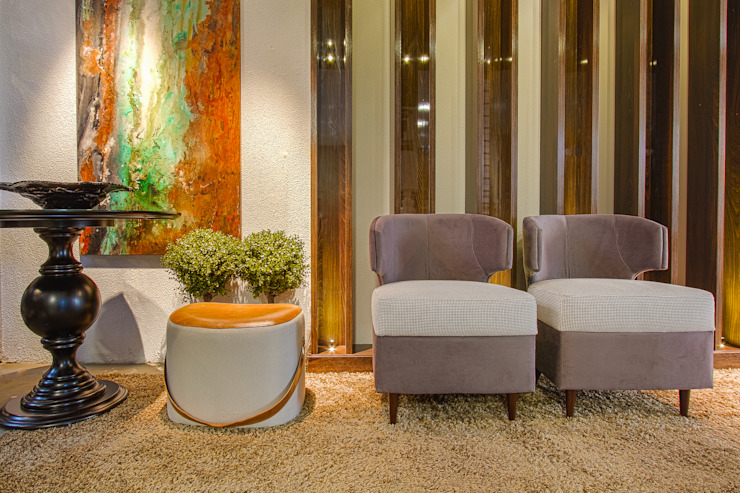 Sgabello Interiores Corridor, hallway & stairs Seating Cotton Grey
