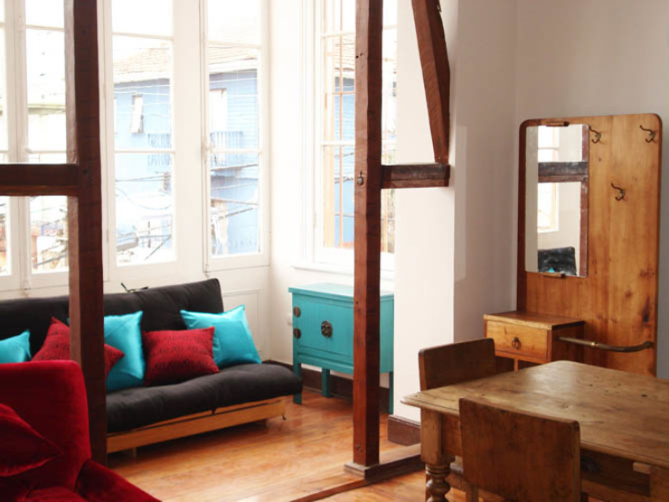 Loft Cerro Alegre Livings de estilo minimalista de Lau Arquitectos Minimalista
