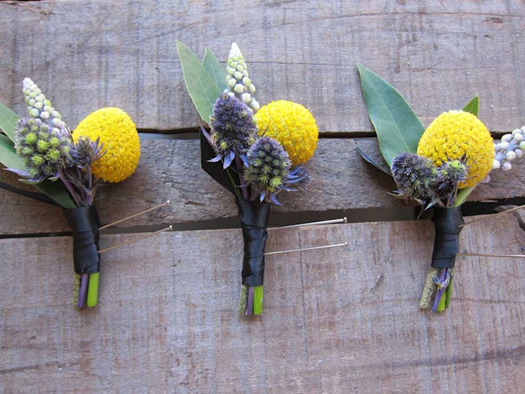Buttonhole Brilliance : rustic  by Flower Station, Rustic