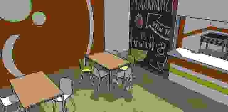 Escuela Comedores de estilo moderno de Fire Design AR Moderno Madera Acabado en madera