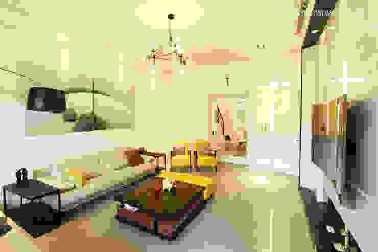 Salones de estilo moderno de 大漢創研室內裝修設計有限公司 Moderno Compuestos de madera y plástico