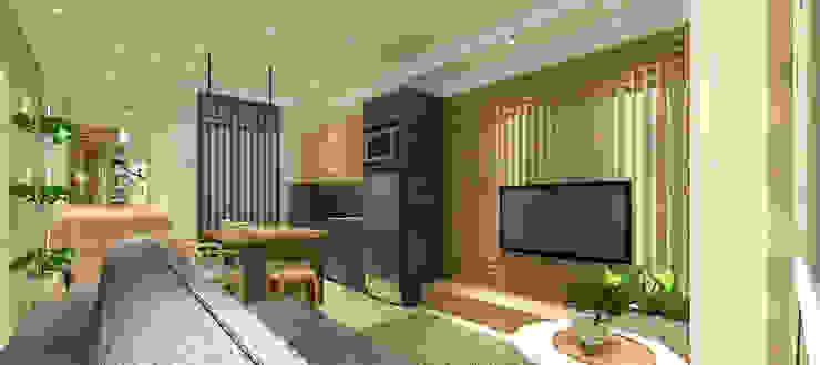 Trivium Apartment 3BR Ruang Keluarga Modern Oleh SAE Studio (PT. Shiva Ardhyanesha Estetika) Modern