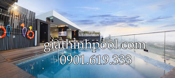 Tư vấn thiết kế hồ bơi trên sân thượng: modern  door Gia Thinh Pool, Modern