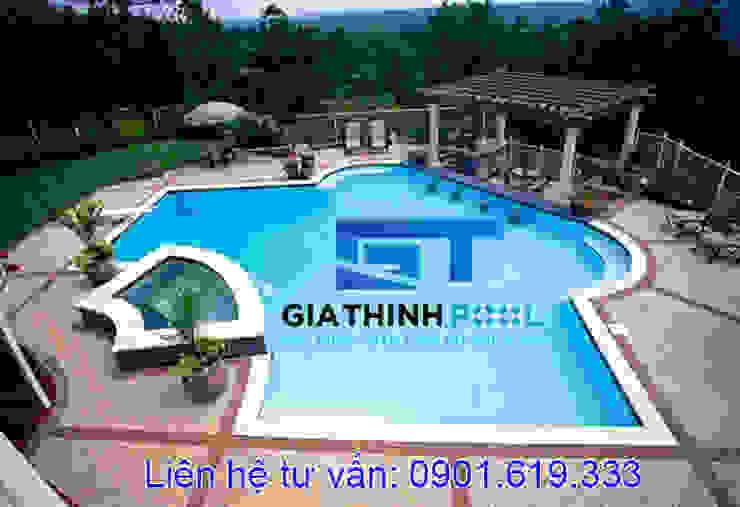 Tư vấn thiết kế hồ bơi gia đình: modern  door Gia Thinh Pool, Modern