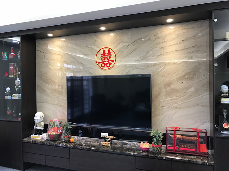客廳 现代客厅設計點子、靈感 & 圖片 根據 寶樹堂營造工程 現代風